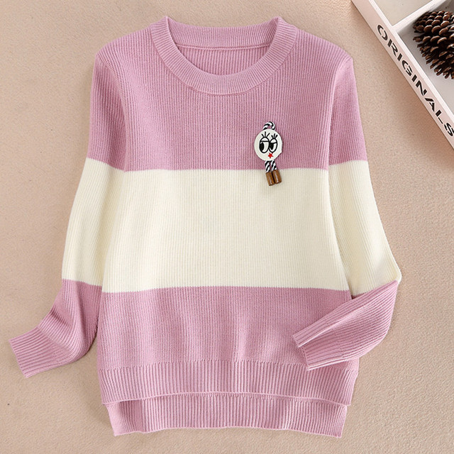 Children's clothing female big boy thick knit pullover sweater bottoming Korean big boy child sweater cashmere sweater