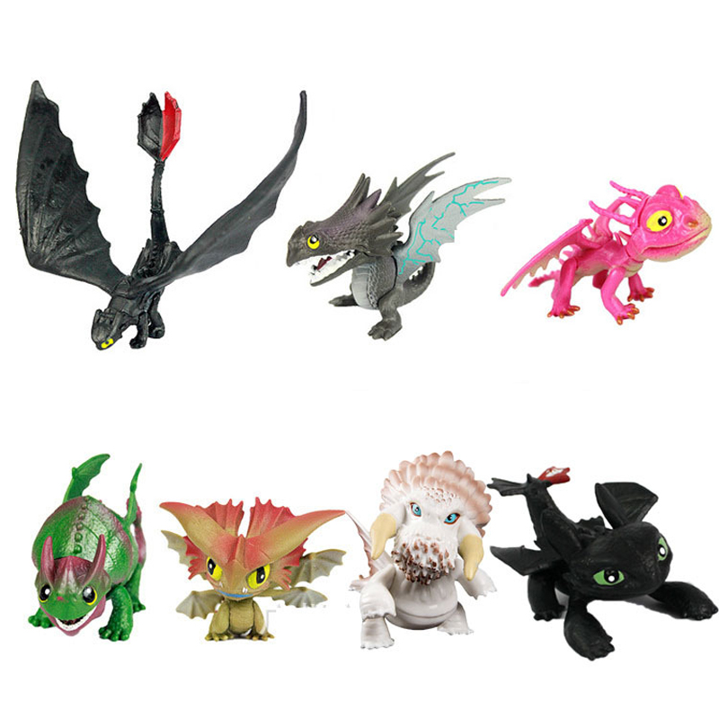 7pcs/set 5-6 cm How to Train Your Dragon 2 PVC Action Figure Toy Doll Kids Adult Collection Model Decoration Gift how to cook with chef louie kids cookbooks box set with apron badges