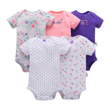 2019 new born baby boy girl clothes unisex newborn Infant clothing set cotton short sleeve o-neck bodysuit summer outfit suit