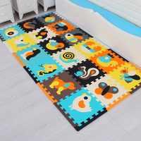18pcs with long edges Children's foam Carpet baby game mat foam flooring Eva jigsaw Puzzle mat baby mosaic crawling toys tiles
