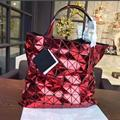 New Fashion Women's Handbag  Japan style Same As BAOBAO Bag Top Quality Lattice Geometric Hand Bag 10*10 Lattice Bolsa hologram