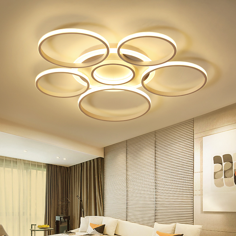 led ceiling lights Living room minimalist modern led ceiling lamp circular creative bedroom lamp restaurant lamp aluminum lamp modern minimalist 9w led acrylic circular wall lights white living room bedroom bedside aisle creative ceiling lamp