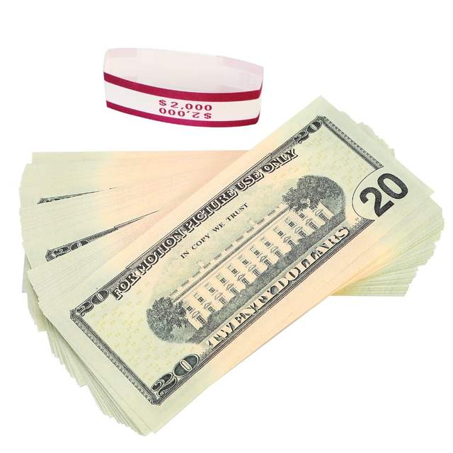 US $10 63 24% OFF|Toy Money Full Print 2 Sided $2000 Fake Money Motion  Picture Money $20 Dollar Bills Realistic Money Stacks,Copy Money -in Gold