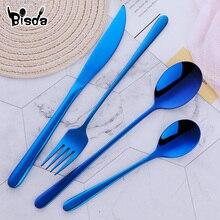 أدوات مائدة من فولاذ لا يصدأ 24 قطعة أسود مجموعة أدوات المائدة شوكة ملعقة طقم السكاكين أدوات المائدة الغربية حفلة المائدة أواني المنزل