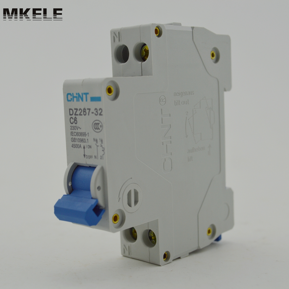 Chint Miniature Circuit Breaker Dz267 32 1p N C6 Mini In Breakers From Home Improvement On Alibaba Group