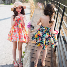 2019 New Toddler Cotton Girls Dress Baby Princess Dress Children Girls Dress Kids Sundress Girl Summer Floral Slip Dress,2 10Y