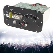 12V 150W Amplifier board Bass Subwoofer Car Audio High Power Amplifier Board Black with Blue Light for 6 8 10 Inch Car Subwoofer fp10000q mosfet audio power amplifier with blue circuit pcb board