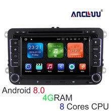 4G ram Android 8,0 VW dvd-плеер gps навигатор для VW Beetle Caddy CC Golf Polo Jetta Tiguan T5 автомобиля радио bluetooth, Wi-Fi