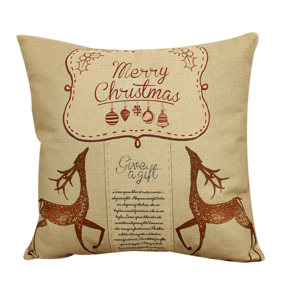 Wholesale Price Vintage Christmas Pillows Decorative Sofa