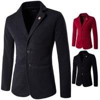 Mens Slim Fit Wool Blazer Hombre Moda Winter Smart Casual Coat Blaser Masculino High Quality Designer Blaizer Solid Color