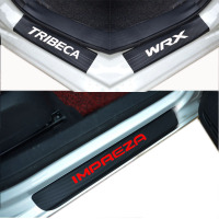 Car Accessories Carbon Fiber Door Sill Scuff Plate Guards Sills For Subaru Impreza Wrx Tribeca Car