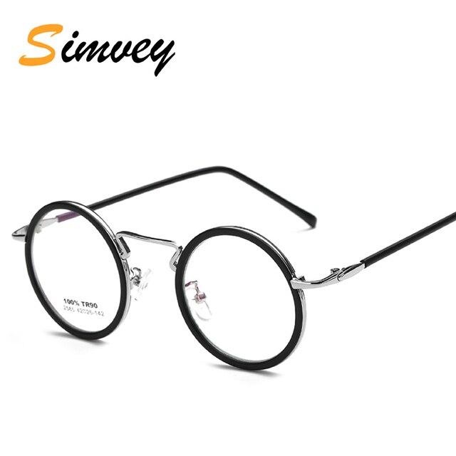 d231b22fba Simvey Fashion Women Small Round Optical Eyeglasses Frame John Lennon  Glasses Vintage Circle Metal Glasses Frame