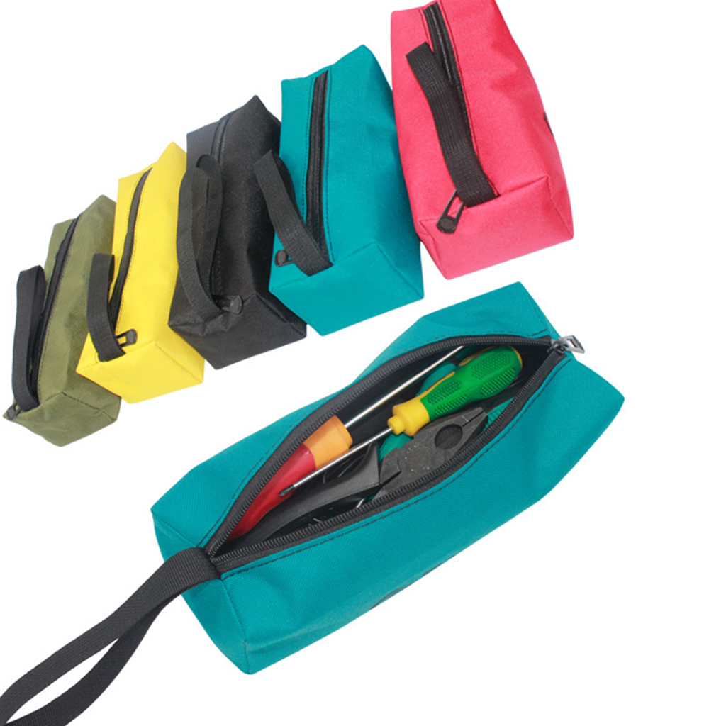 Hardware Machinist Toolkit Handbag Waterproof Oxford Cloth Organize Zipper Pockets Storage Pouch Electrician Worker Accessory