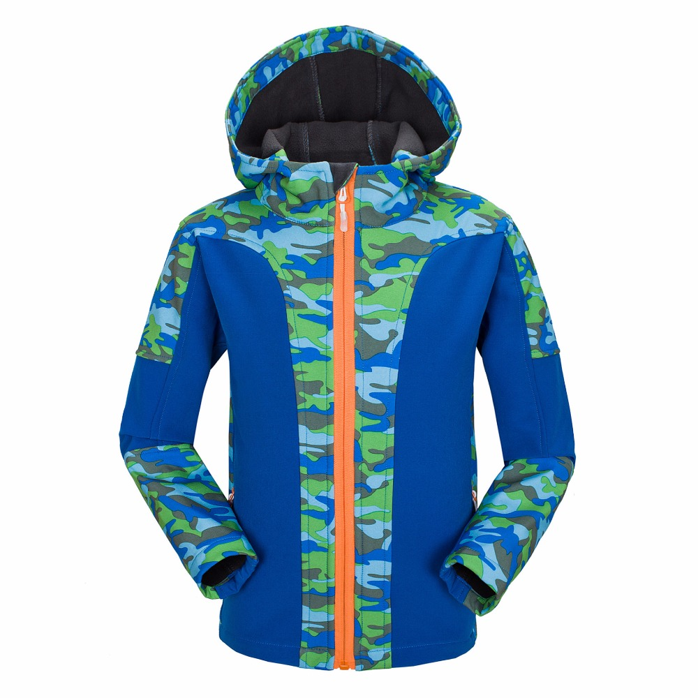 ФОТО Autumn Children Girl Outerwear Hiking Jacket Printed Windproof Hooded Coats Kids Sport Clothes
