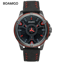 BOAMIGO Mens Watches Top Brand Luxury Waterproof Quartz Military Watch Digital Sport Dropshipping New Arrival 2019