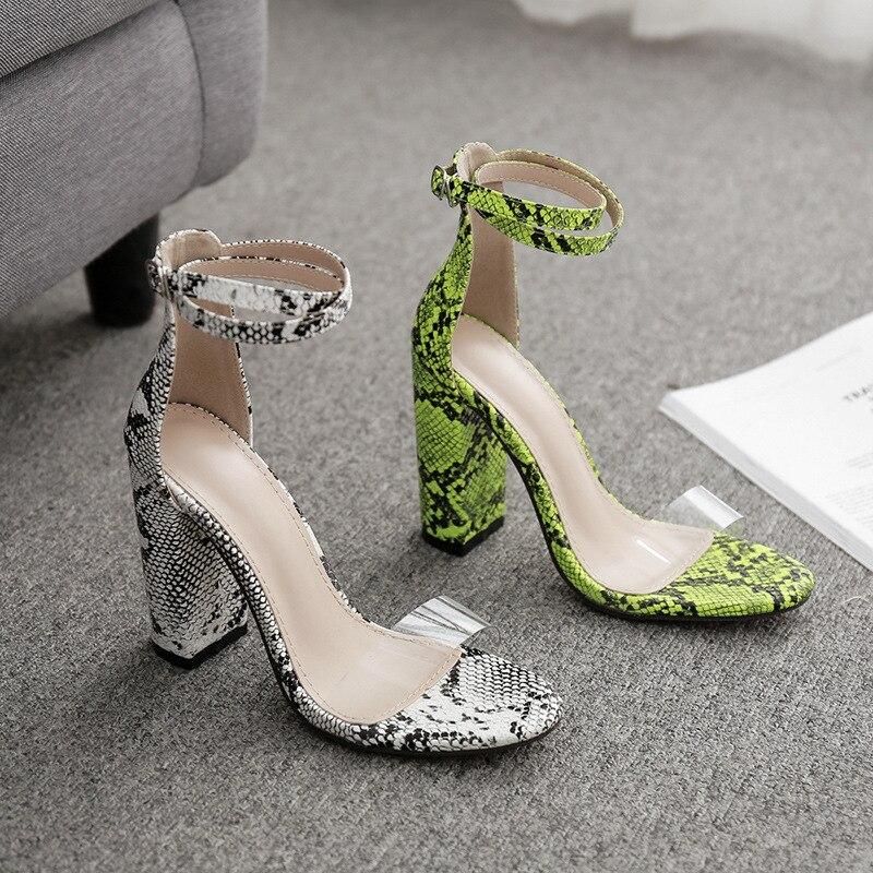 Mujer Tela Vaquero Zapatos Sandalias De Tacones Verano lJT1KuF3c
