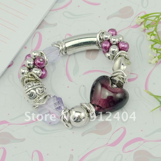 Fashion jewelry, free shipping, hand catenary including resin, alloy, coloured glaze, chain ring and other materials