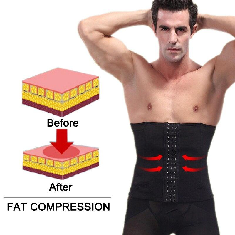 SEXYWG Men Sports Belt Body Shaper Waist Support Trainer Girdle Lingerie Fajas Tummy Belly Band Slimming Shapewear Brace Strap
