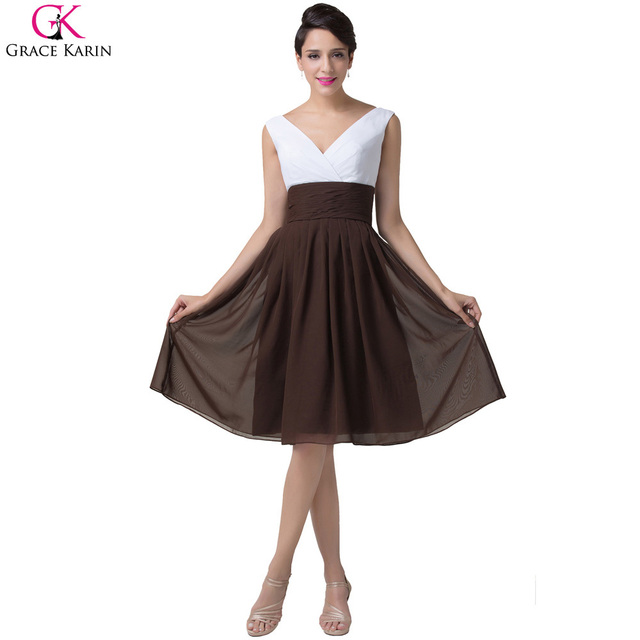 Short Brown Formal Dress