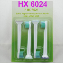400pcs HX6024 Electric Sonic Tooth Brush Replacement For Philips Sonicare Toothbrush Heads Kid Or Adult Compact