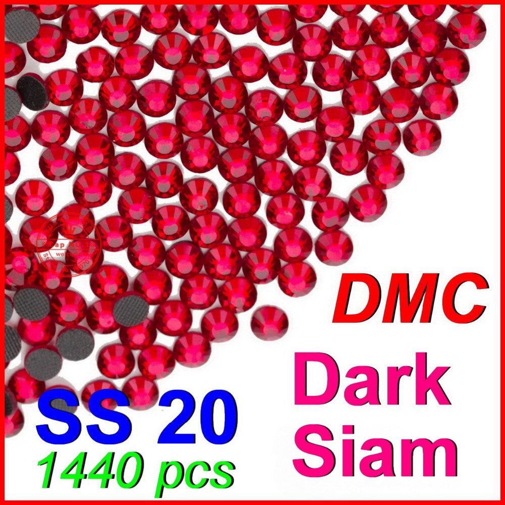 DMC Hotfix Crystals Rhinestone SS20 dark siam 10 Gross bag CPAM Free Brides  stones DIY Garment accessories 79a4f9565be2