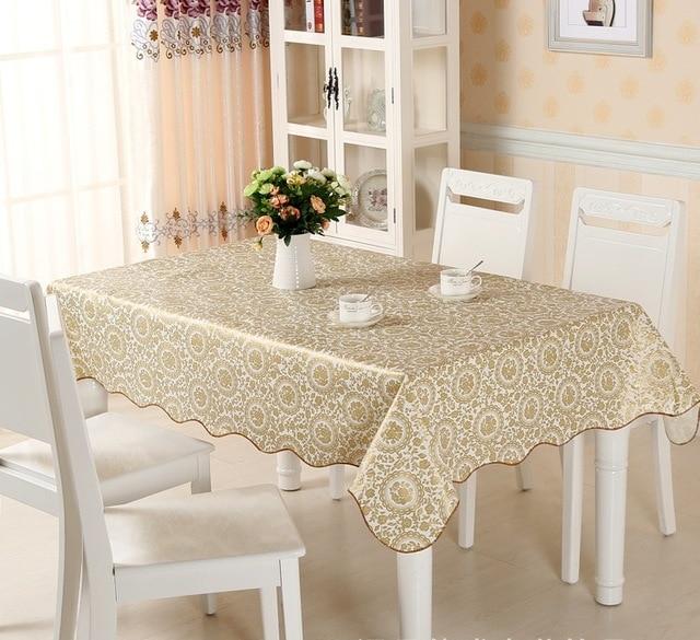 US $2.68 29% OFF|Plaid Wasserdichte Wischen Sauber PVC Vinyl Tisch Tuch  Öldicht Esszimmer Küche Tisch Abdeckung Platz Öl Tuch Tischdecken Blumen ...