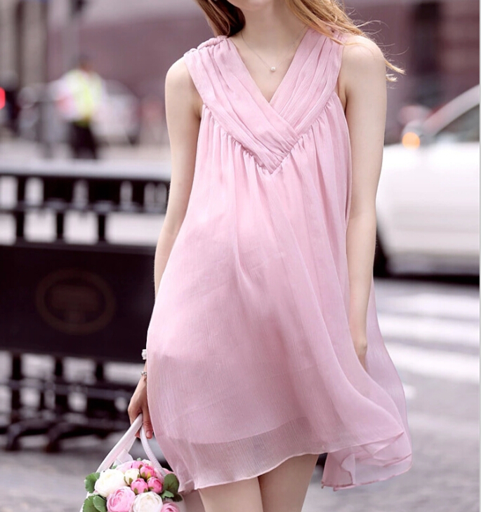 e001077db3b Chiffon Sleeveless Summer Pregnancy Clothing Slim Elegant Maternity Dresses  Cute for Pregnant Women Maternity Dress YL-177