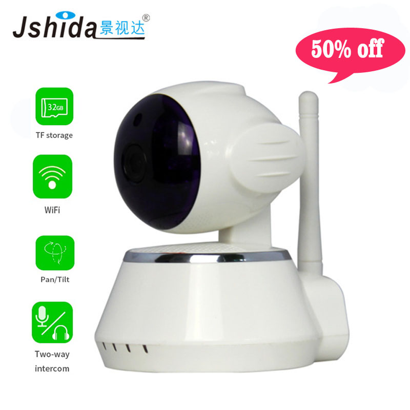 Jshida wireless WiFi IP Camera Home Security Camera system 720P IR Night Vision Infrared Two Way Audio 1.0MP Baby Monitor new wifi ip camera home security camera wireless 720p night vision infrared two way audio baby camera monitor video webcam