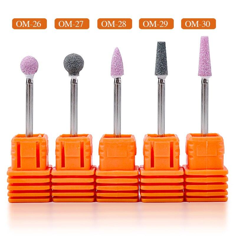 Ceramic Quartz Stone Nail Drill Bit 3 32 Rotate Burr Cuticle Clean Mill Manicure Pedicure Tools