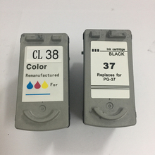 Vilaxh 2pieces PG37 CL38 compatible ink cartridge for canon PG-37 CL-38 For Canon IP1800 1900 2500 2580 2600 MP140 160 190