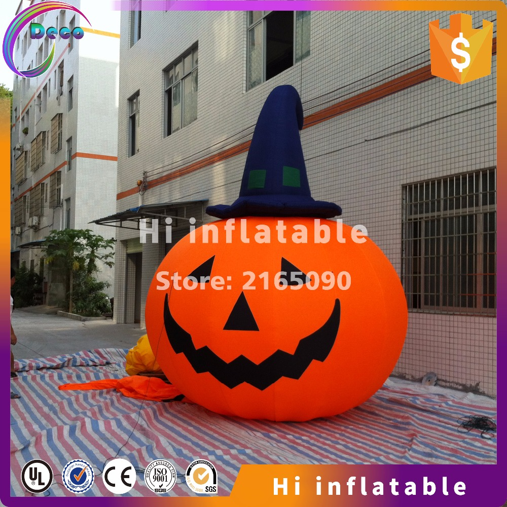 4m high hot selling weird unique giant halloween decoration inflatable pumpkin - Giant Halloween Decorations