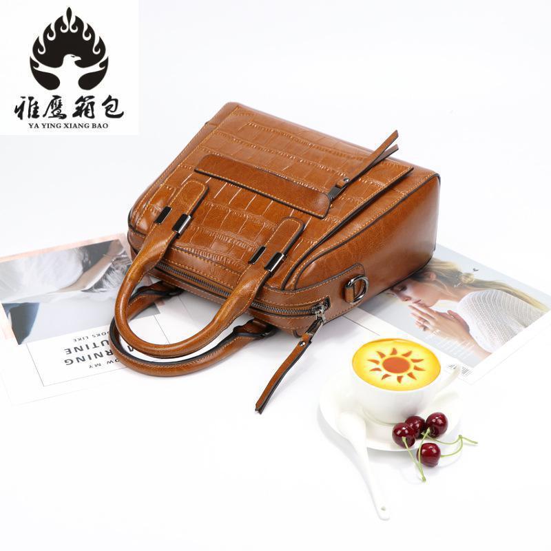 Brand Women Handbags 100% Crocodile Genuine Leather Fashion Shopper Tote Bag Female Luxurious Shoulder Bags