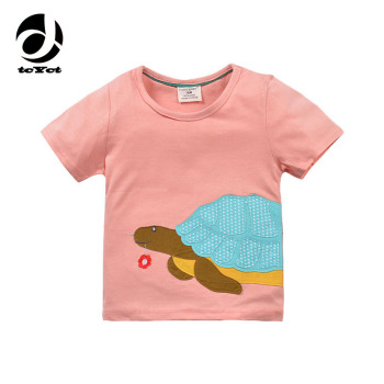 2017 New Summer Clothes Baby Girls T-shirt Cotton Tortoise Pattern Children T Shirt Kids Clothes 1-6 Years Cuckold Girls T Shirt
