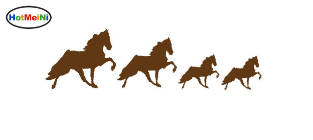 HotMeiNi Running feverishly imaginative Horse Family Sticker For Truck  Bumper SUV Door Kayak Vinyl Decal Special