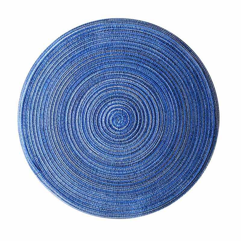 Круглый дизайн стол рами изоляционный коврик Твердые салфетки льняной нескользящий Настольный коврик для кухни, принадлежности украшения дома Pad Couster