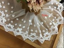 Mesh embroidery lace white cotton mesh accessories 15cm wide