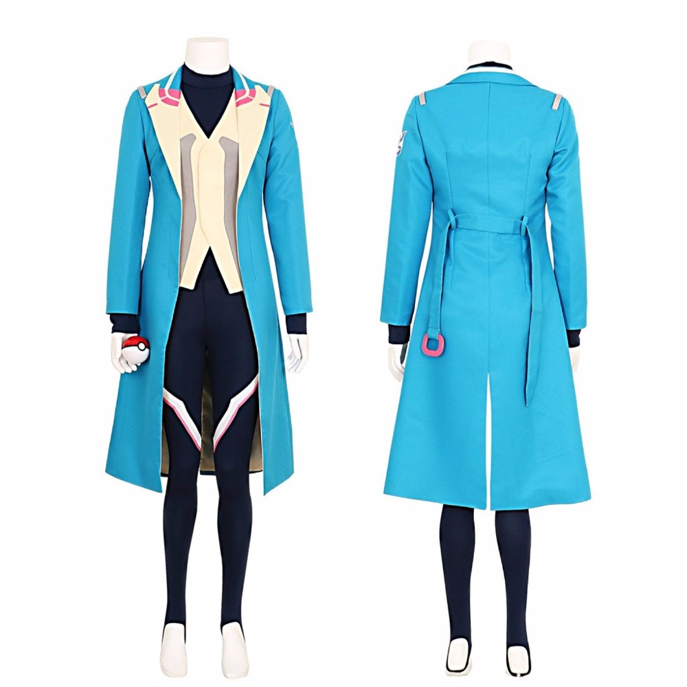 Pokemon Go Blanche Team Mystic Team Leader Cosplay Costume Tailor Made
