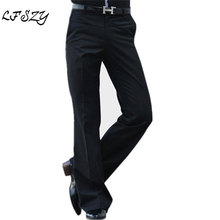 2019 Spring and Summer Korean version of the bell-bottoms Male Slim straight trousers Men Casual Business Suit Pants