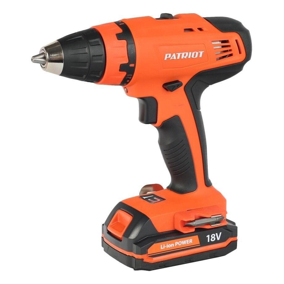 где купить Drill electric screwdriver rechargeable PATRIOT BR 180Li (2 speed, reversing the case) по лучшей цене