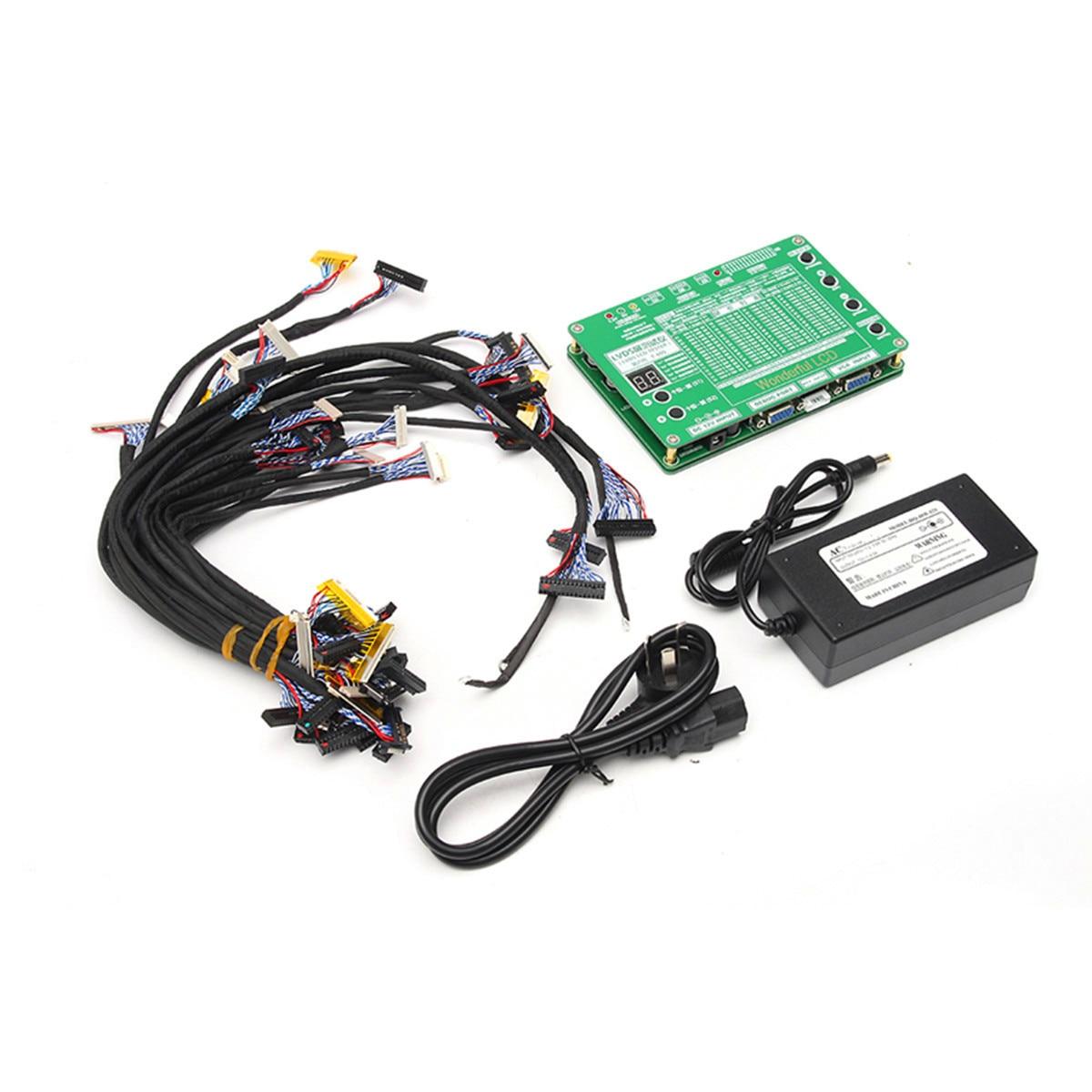 Новый LED ЖК-дисплей Экран Панель тестер инструмент для ТВ ноутбук Ремонт + 29 шт. Экран кабели + Мощность адаптер
