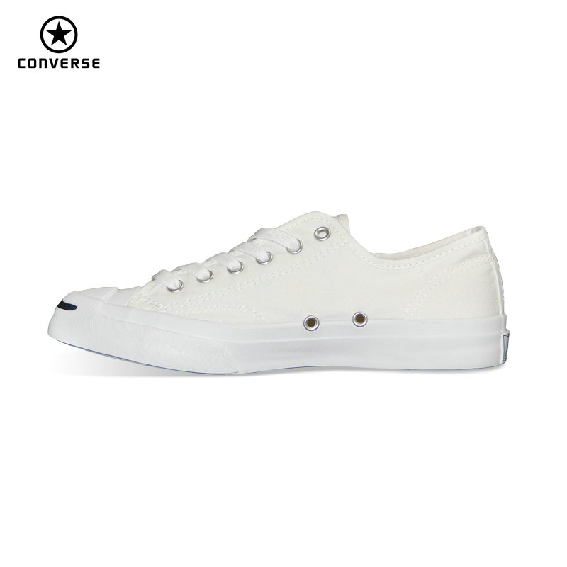 Original Converse Canvas smiling face style JACK PURCELL sneakers Spring summer man and women Skateboarding Shoes 154144C suede