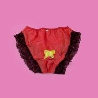 Sissy Panties Silky Lace rubber cool Bikini Briefs Underwear Sexy For Men gay jockstrap underwear men