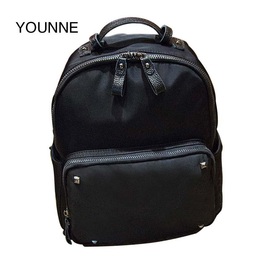 Younne PU Leather Backpack Women High Quality Satchels Teenager Girl Fashion Black School Bags Casual Travel Bags Large Capacity high quality pu leather women backpack fashion solid school bags for teenager girls large capacity casual women black backpack l