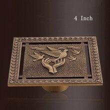 Домашние Античные аксессуары для ванной дезодорирующие напольные сливы медь 4 дюйма латунный фильтр для душевой комнаты фильтр новое поступление