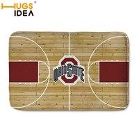 HUGSIDEA Brand NBA Basketball Design Carpet Floor Mats Home Decoration Door Hallway Mat Basketball Court Carpets