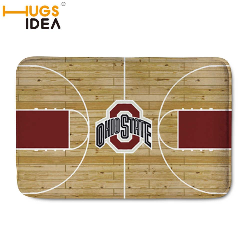 Hugsidea marca nba basketball projeto carpet tapetes casa decoração da porta do corredor tapete tapetes para sala de estar da quadra de basquete
