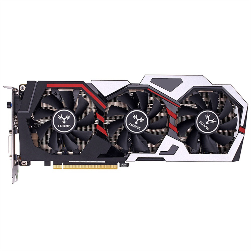 For Colorful For IGAME GTX 1070Ti Vulcan U Top Graphics Card 1607/1683MHz 8G GDDR5 256bit PCI-E 3.0 DirectX 12 SLI VR Ready vg 86m06 006 gpu for acer aspire 6530g notebook pc graphics card ati hd3650 video card