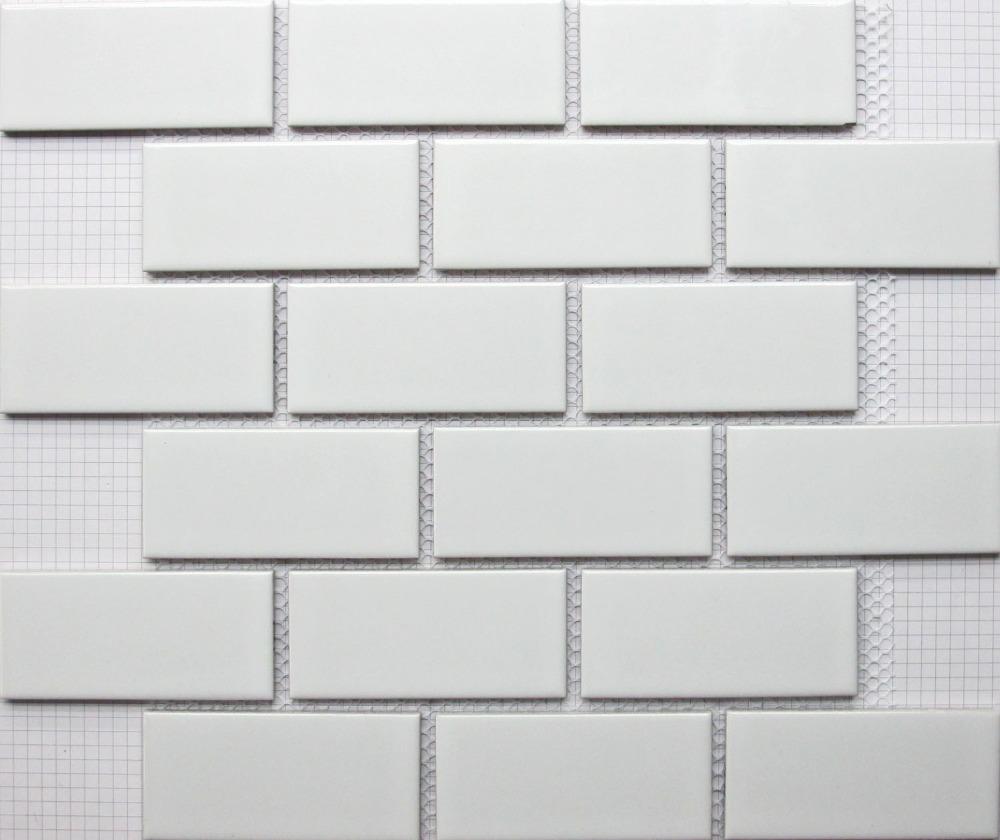 ladrillo blanco cermica del azulejo del mosaico backsplash de la cocina bao azulejo de la piscina