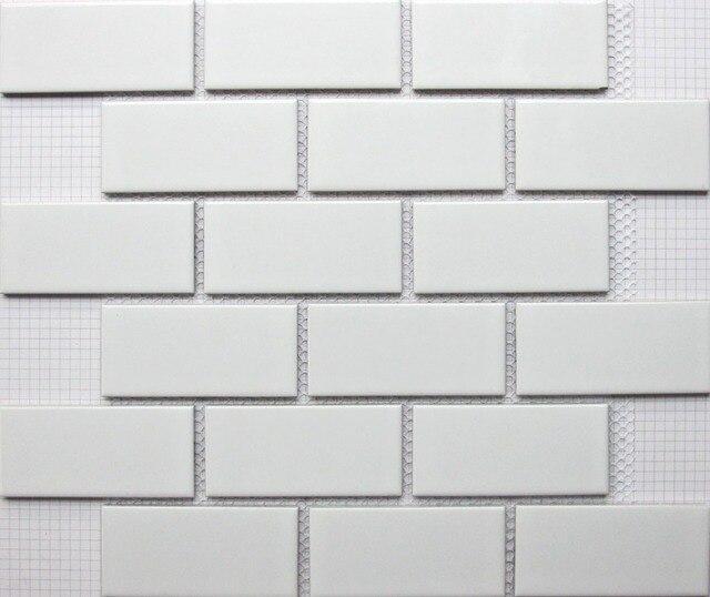 Weiße Ziegel Keramik Mosaik Fliesen Küche Backsplash Fliesen - Mosaik fliesen für balkon