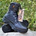 Los hombres Zapatos Militares Del Ejército de Arranque Botines de Motocicletas de Los Hombres Zapatos de Cuero Genuinos de Senderismo Swat Botas Tácticas Desierto de Arranque Tamaño 39-45